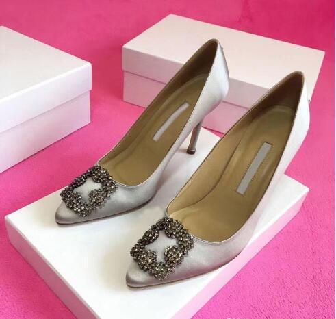 حار بيع مصمم حزب أحذية الزفاف العروس السيدات الصنادل أزياء اللباس مثير أحذية أشار تو الكعوب العالية جلد بريق