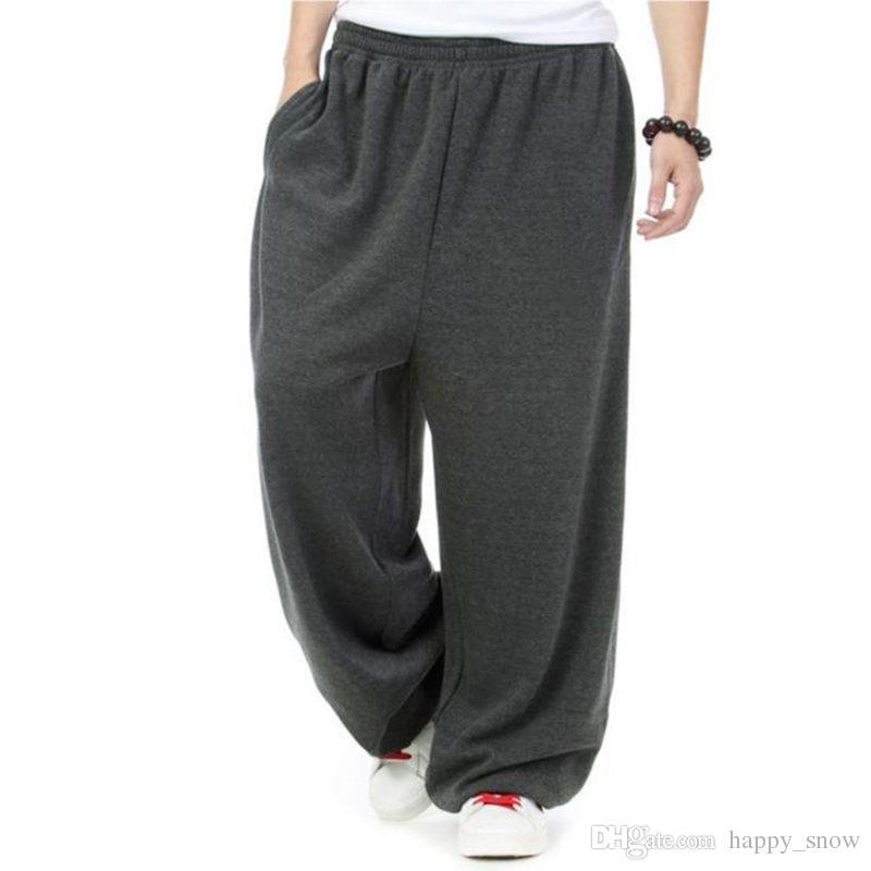 Pantaloni primaverili invernali Pantaloni sportivi hip hop taglie forti Pantaloni felpati casual Pantaloni larghi larghi pantaloni larghi Pantaloni da ballo di strada Harem