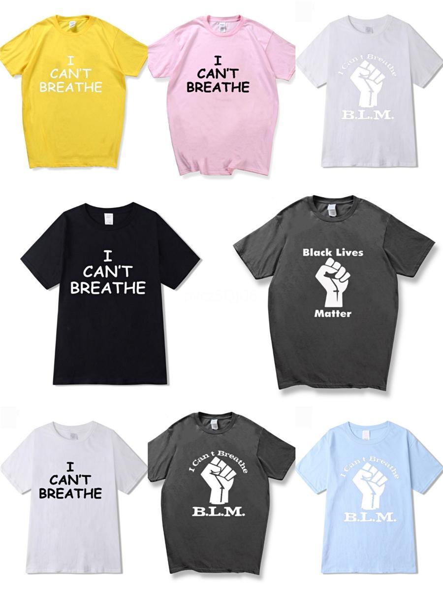 No puedo respirar diseñador! Verano camiseta para hombre Casual letra impresa manga corta de algodón Negro Streetwear camisetas blancas Top Tees T-S de lujo # 44