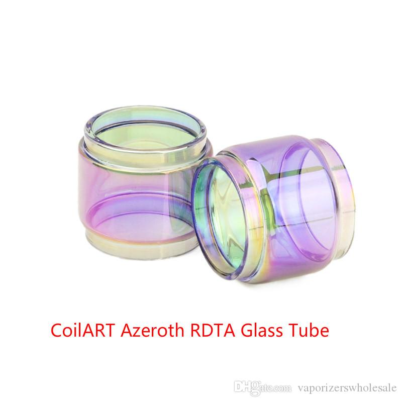 Оптовая CoilART Азерота RDTA расширение пузырь радуги стекло DHL Бесплатная Купить недорого CoilART Азерота RDTA бак расширенный жирный шарик версия