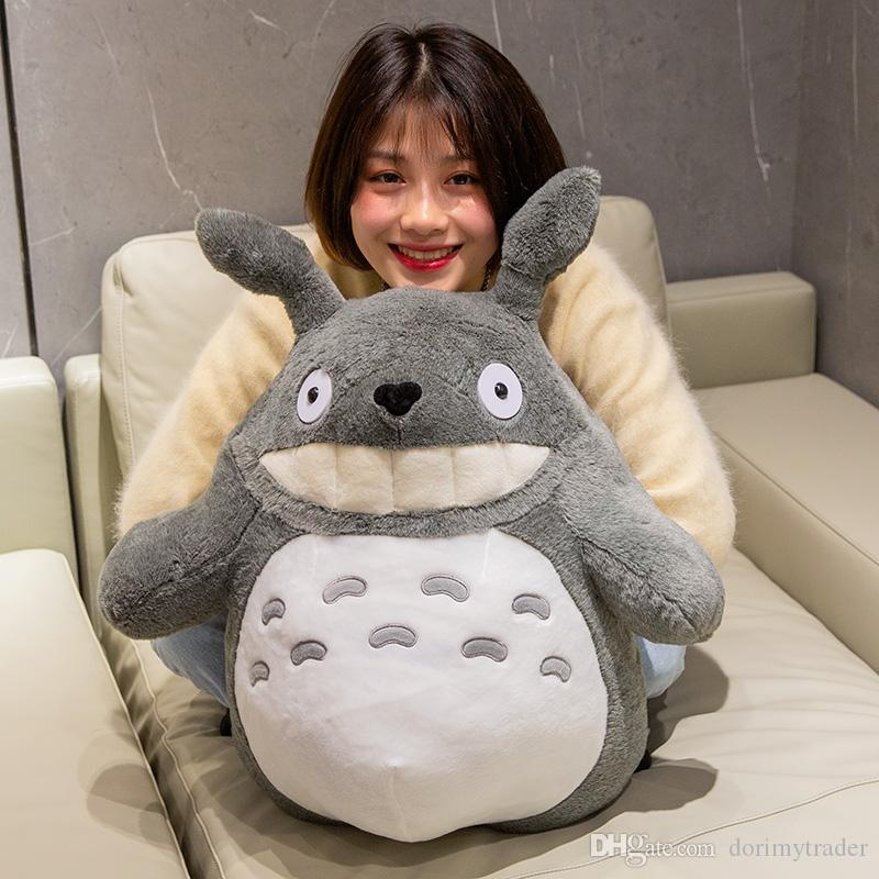 kawaii anime totoro plush toy doll with lotus leaf Japan totoro doll creative birthday gift for Children 28inch 70cm DY50566