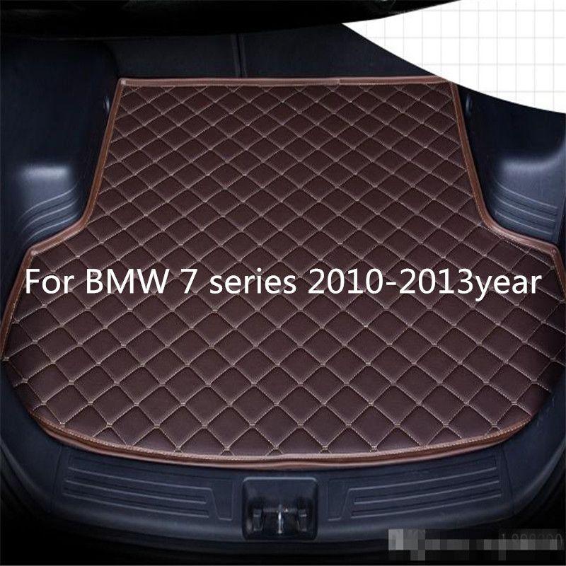 Pour BMW Série 7 s 2010-2013year voiture anti-dérapage tapis de coffre en cuir imperméable Tapis de voiture tapis de coffre plat Pad