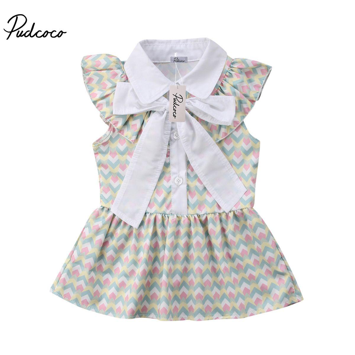 2018 Bebek Çocuk Kız bebekler ilmek Parti Yarışması Kolsuz Tutu Elbise Sundress Günlük Elbiseler 1-6Years Elbiseler