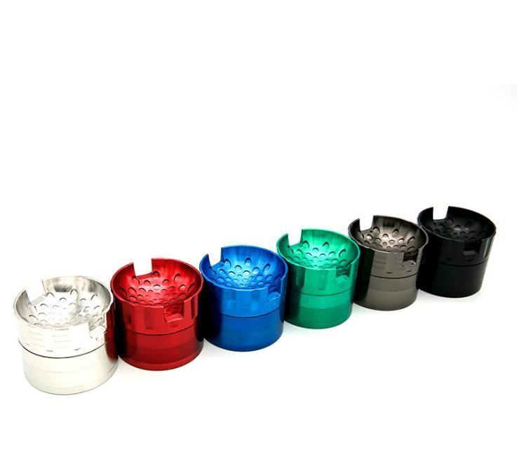 Broyeur à fumée en alliage de zinc à quatre couches 63 mm Broyeur à fumée en métal à quatre couches