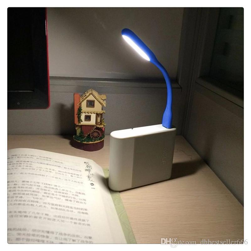 Mini usb led candeeiro de mesa de leitura de luz do livro gadgets noite flexível luzes usb lâmpada de mão do olho para o poder pc notebook laptop home quente