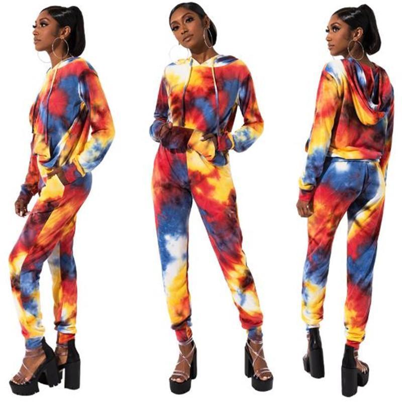 2020 весна женщин 2Pcs Брюки Повседневная женщина Длинные рукава Set Мода Женский Твердая Одежда