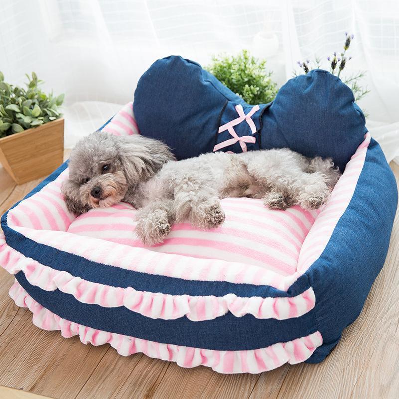 بيت الكلب القابل للإزالة وقابل للغسل بيت الكلب القط تيدي صغير متوسطة الحجم سرير الكلب مستلزمات الحيوانات الأليفة سرير الكلاب الصغيرة 201225