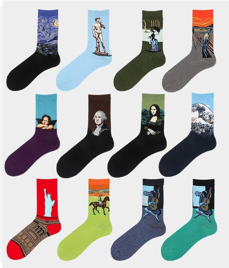 Sokak Tide Marka Star Sports Orta Tüp Moda Çorap çorap 17 Stil Boyama 2020 Mens Tasarımcısı Çorap Yağı