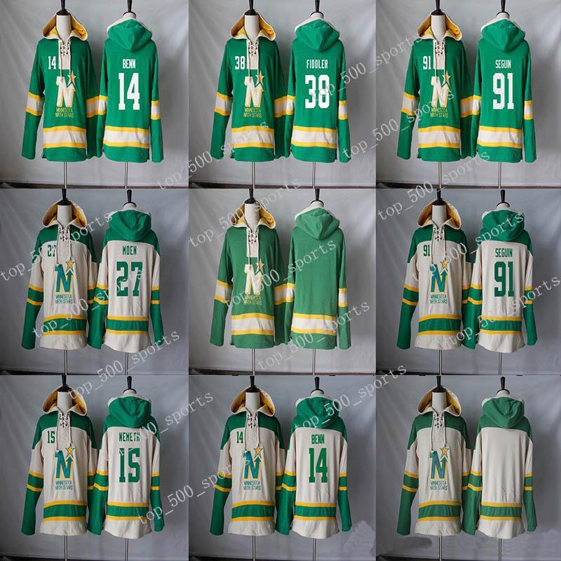 미네소타 북쪽 별 까마귀 14 Jamie Benn 91 Tyler Seguin 15 Patrik Nemeth 27 Moen 38 Vernon Fiddler Hockey Jerseys Hoodies Sweatshirts