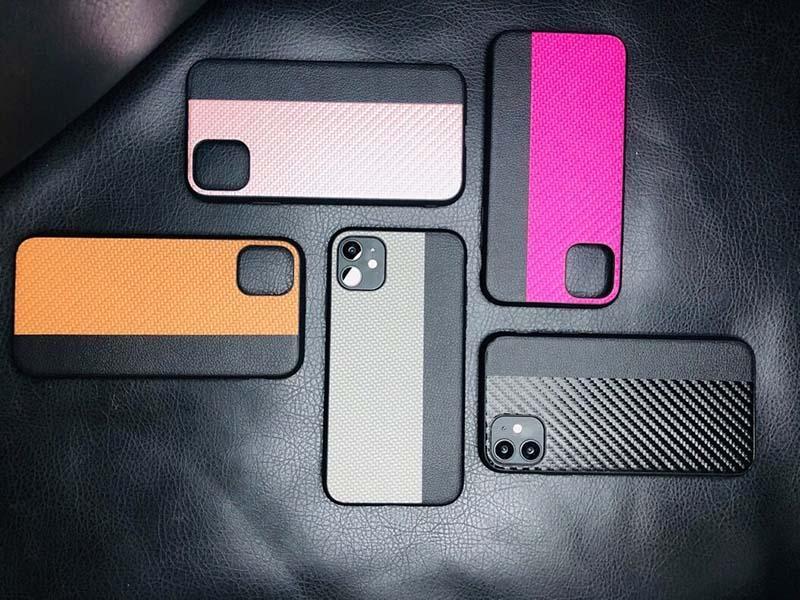 Luxo Fibra de Carbono caixa do telemóvel de couro macio TPU telefone caso completa à prova de choque tampa traseira para o iPhone de 11 pro max 6 7 8 mais