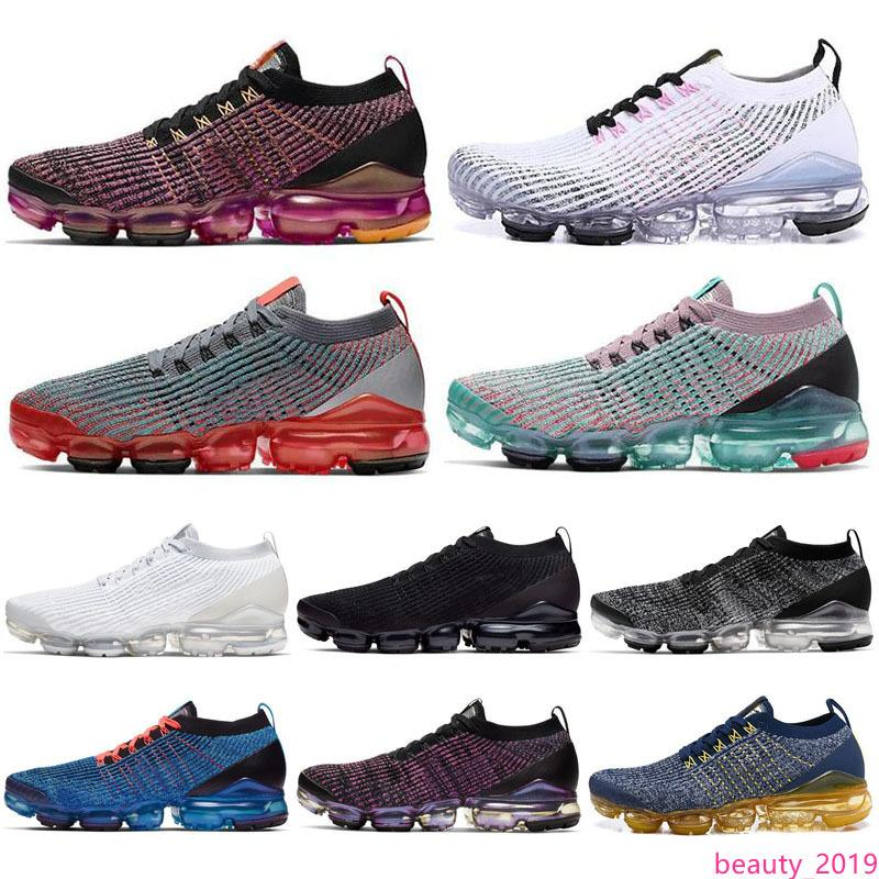 Klasik Fly 3,0 Mens Kadınlar Üçlü Siyah Beyaz Saf Platin Örme 3s Erkekler Koşu Sneakers Tasarımcı Spor Ayakkabı 36-45 Koşu Ayakkabıları