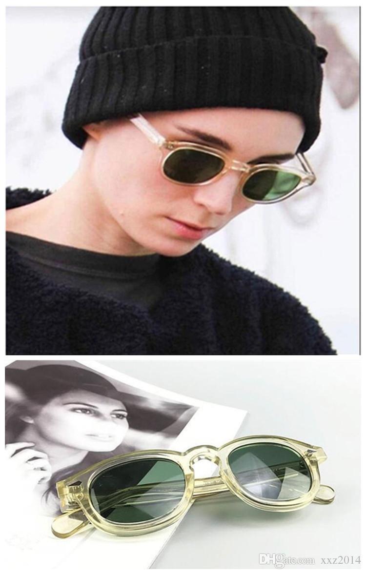 wholesale Fashion Johnny Depp star sunglasses UV400 HD lens imported plank accustomized L M S sizes glasses full-set case OEM factory outlet