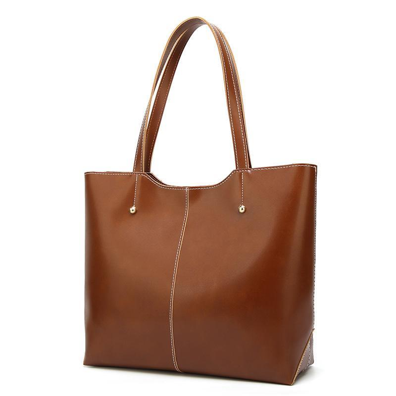 Mode Retro-Öl-Wachs-Leder-Schulter-Beutel-Frauen Tragetaschen Luxus-Handtaschen-Frauen-Beutel-Designer-Einkaufstasche Damen Hand Sac