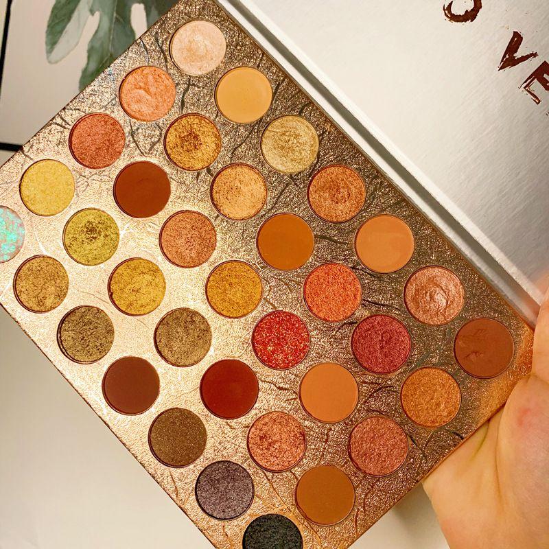 35 Цвета Коричневый Оранжевый матовые перламутровые Блеск блестки палитра теней Пигмент Тени для макияжа Palette Косметика оптом