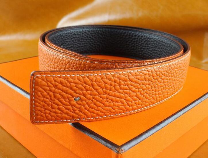 New Designer de Moda Mens Negócios Cintos de luxo CEINTURE Liso Gold Silver Buckle cintos de couro genuíno para homens cinto frete grátis