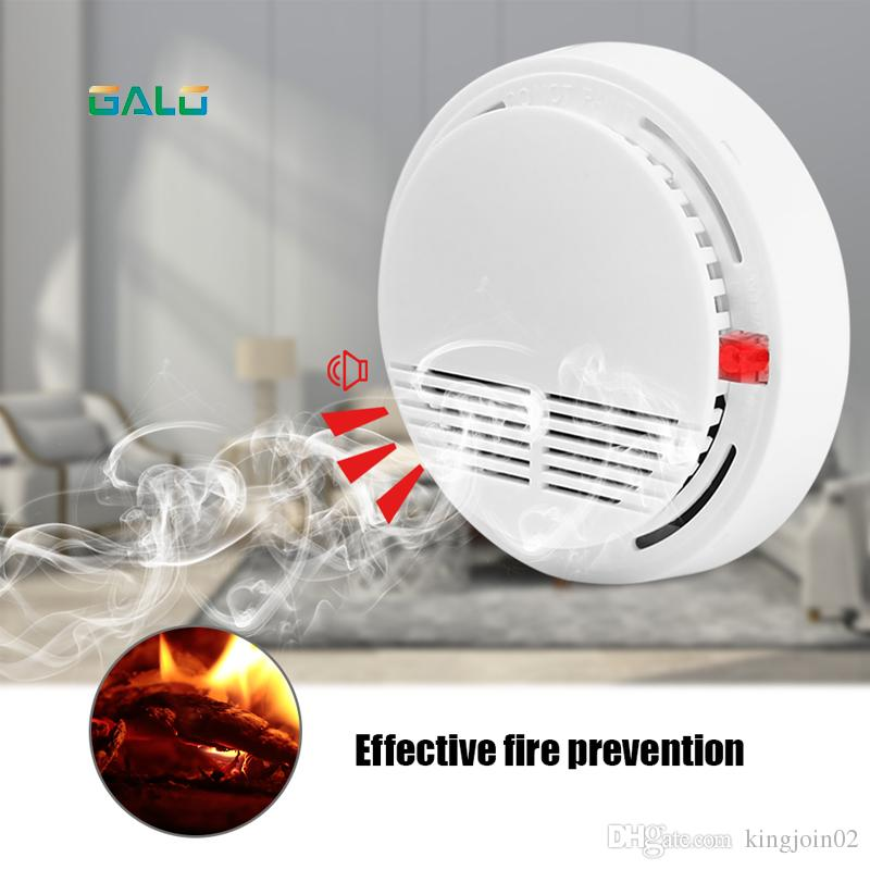 Wholesale and retail factory Sensor Sensitive Photoelectric Home Independent alarm Smoke Detector Fire Alarm alone Sensor For Family Guard