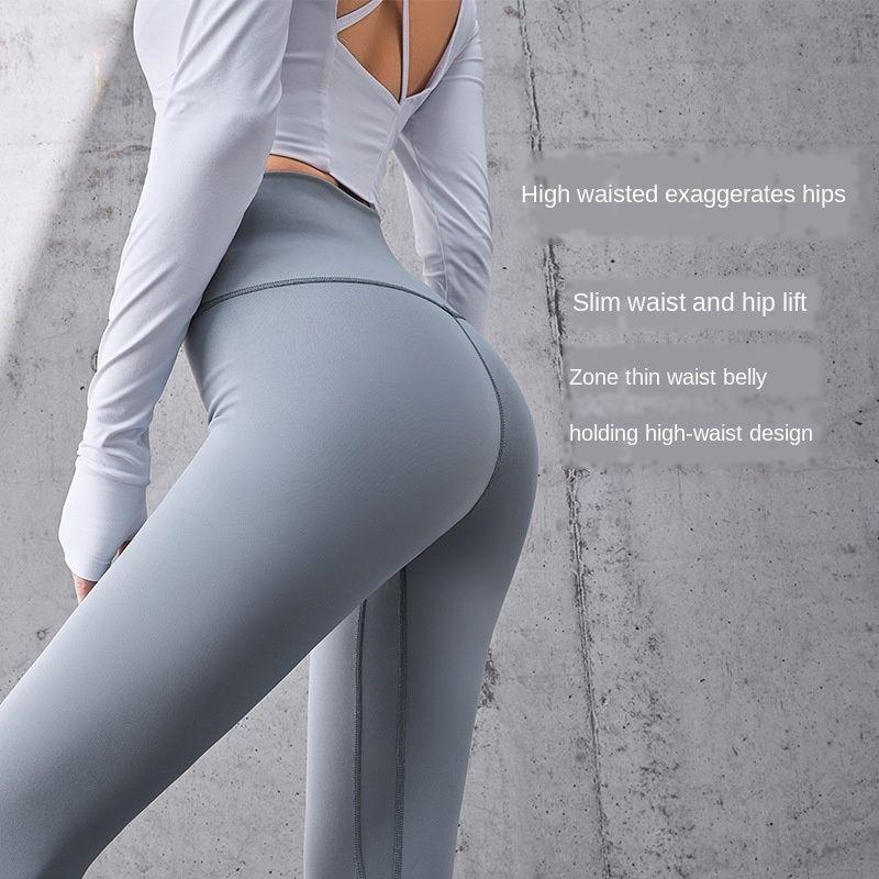 7m1QB Kadın Yoga Pantolon, Yüksek Bel Tayt 2020 Tozluklar Spor, joggings Pantolon, Stretch Dokuzuncu Pantolon, Crotless Dikiş Konu Lady