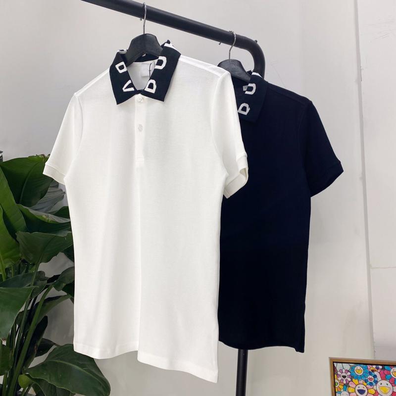 20FW collar clásico del logotipo bordado Polo de manga corta Polo casual de negocios camiseta de Reino Unido sólida simple Summer Street Tee HFYMTX687