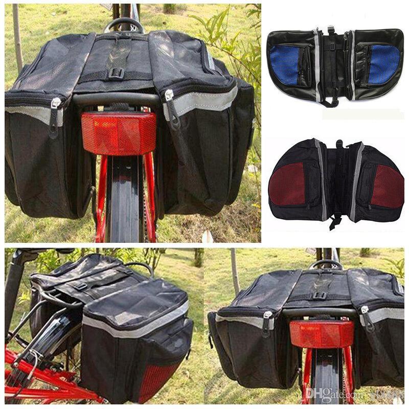 Ciclismo impermeável sacos traseira da bicicleta Cremalheira dobro Pannier Armazenamento sacos de PVC Nova