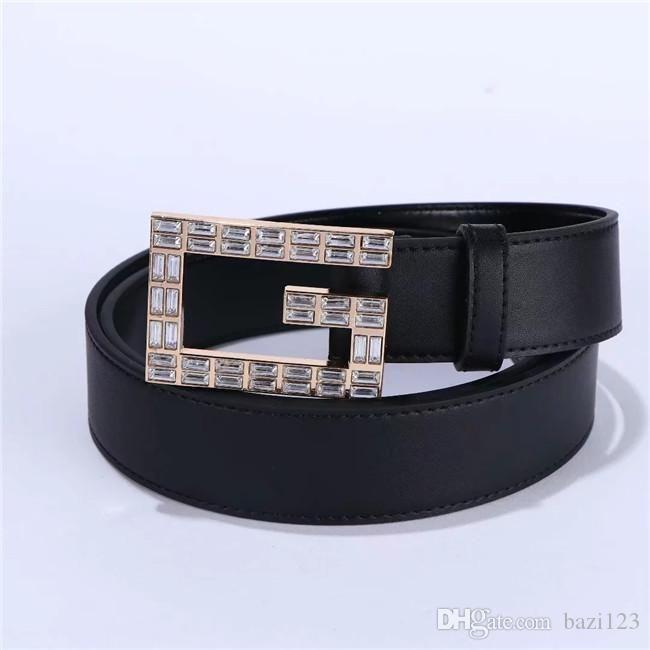 Rettangolari cinture bianche diamante per gli uomini e le donne in specifica 2020: 2,5 e 3,8 cm di larghezza, dimensioni 95-125 cm, cintura nera: