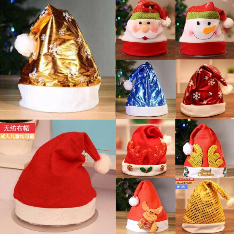CHRISTMAS SANTA HAT WHOLESALE ADULT HATS FELT XMAS FANCY DRESS PARTY HATS