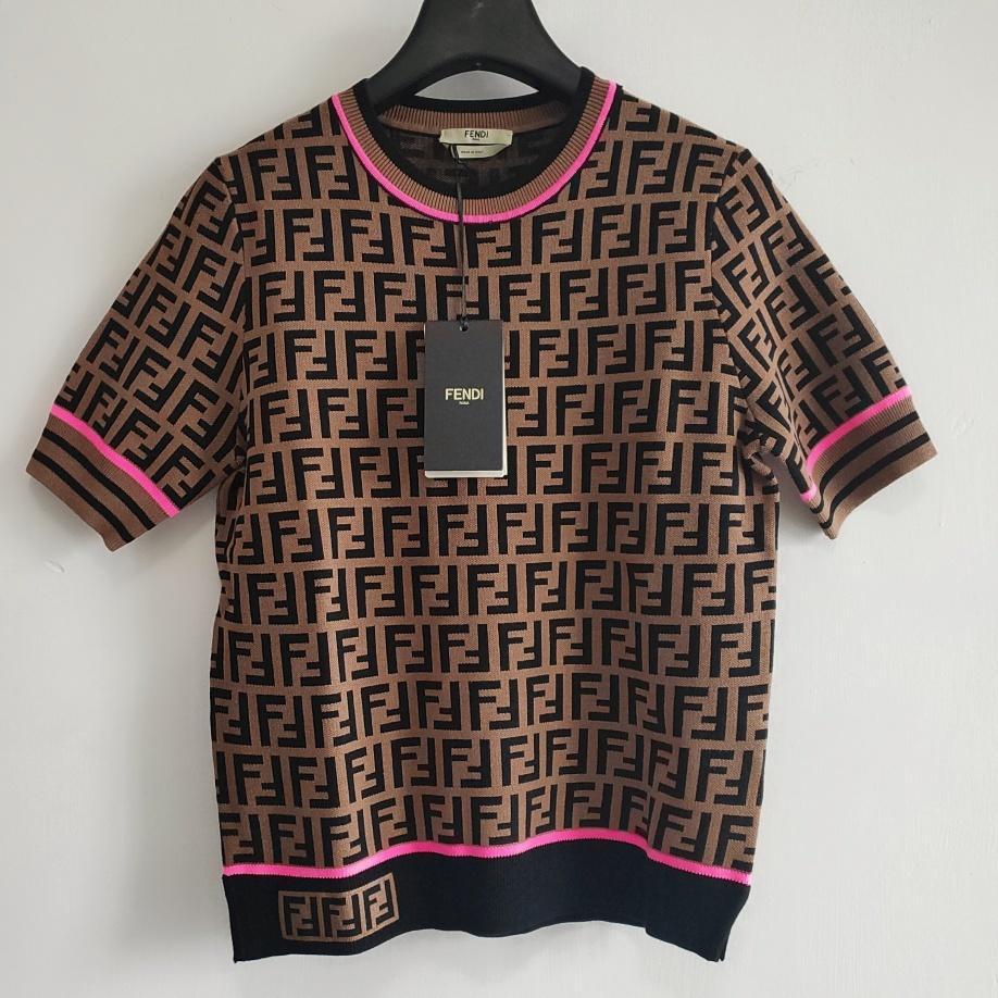 Sommer-Entwerfer-Frauen Shirts heiße Art und Weise Luxuxdamen Knit T-Shirts beiläufige Marken-Top Tees FF Brief Mädchen Kurzarmhemd 2020774K