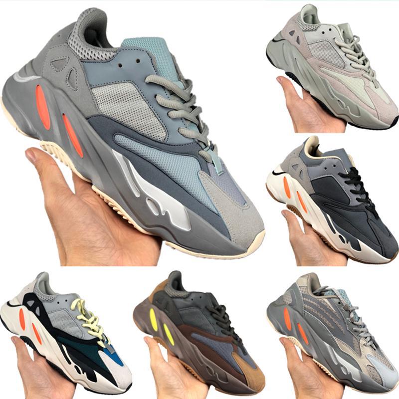 2020 Coconut 700 V2 Runner Chaussures de course Reflective statique original Kanye West 700 Runner Calabasas Inertie tampon Chaussures en caoutchouc Jogger
