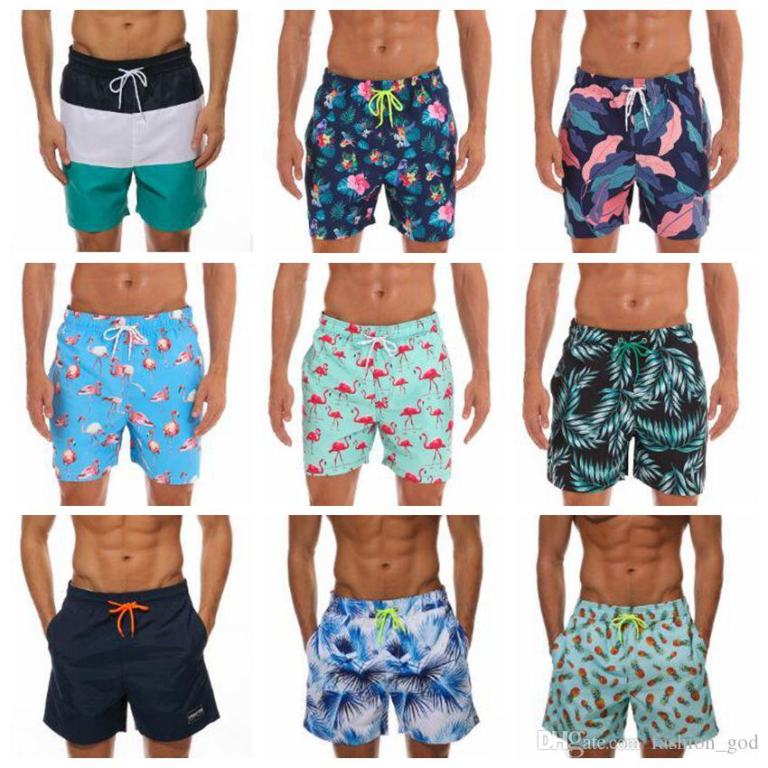Mens Casual Shorts Swimming Surfing Boxer Shorts Summer Quick-dry Swim Trunks