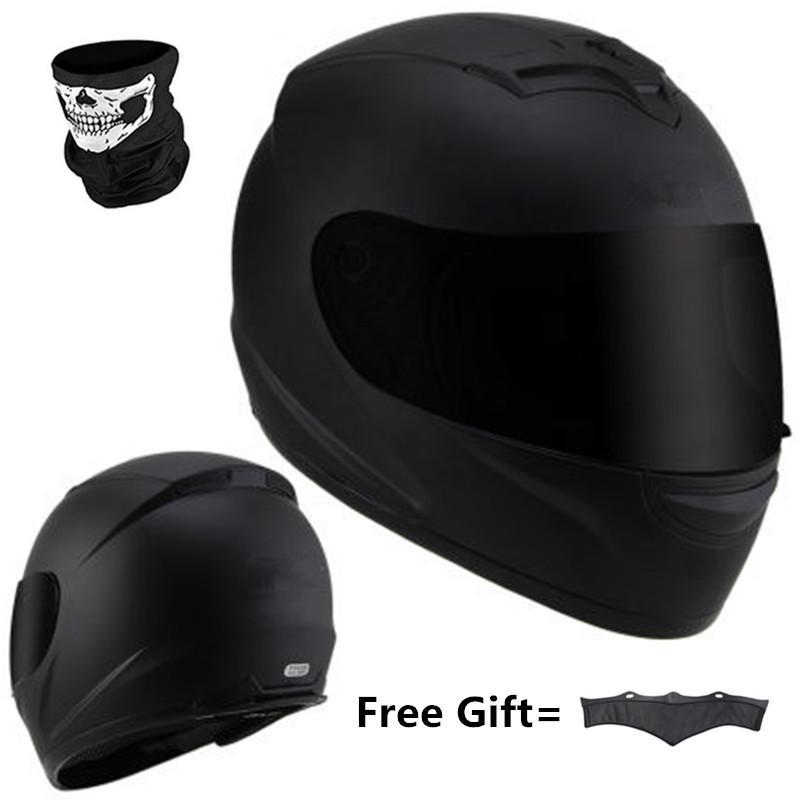 BYE 616 casco de la motocicleta de la vendimia de la cara llena de la motocicleta Chopper motocrós crucero Certificado DOT Vespa Chopper negro mate