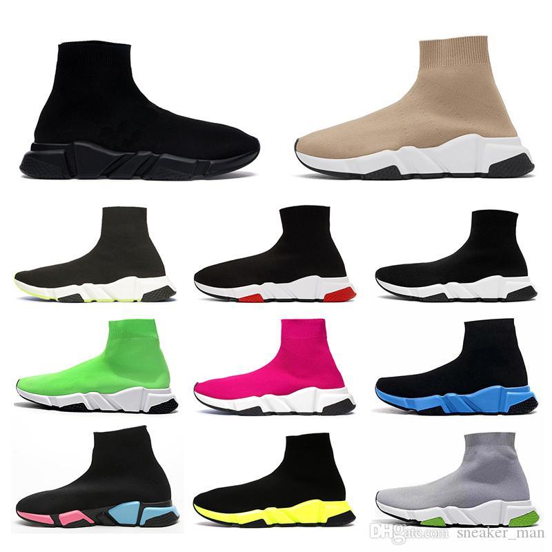 2020 Schuhe Frauen Männer Sock Designer Shoes Speed Trainer Mens Womens Socke platform luxury Casual Socken tripler Beige Black White étoile vintage New Socks Sneakers