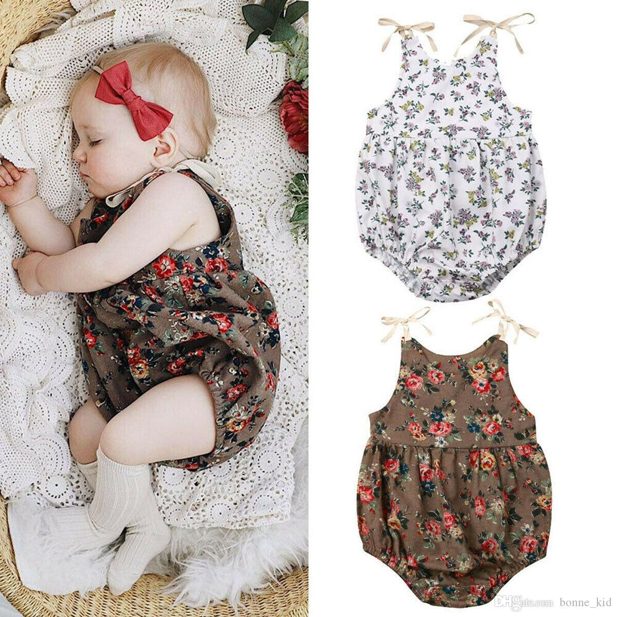 Infant Newborn Baby Girl/'s Floral Cute Romper Bodysuit Jumpsuit Outfits Clothes