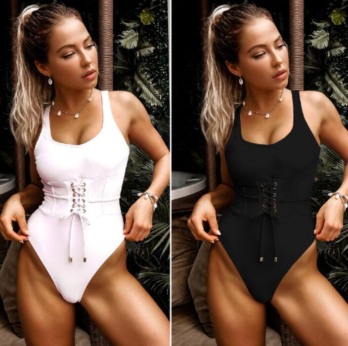 Bikini regolati Un pezzo del costume da bagno sexy una spalla chiusura a cinghia della banda del foglio di stampa tie pieghe vita alta yakuda ragazza sexy signore stampa leopardo
