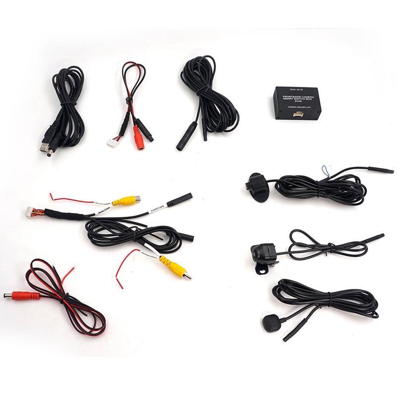 Cámara del vehículo inteligente delantero y trasero Interruptor vistas laterales al sistema de abastecimiento de fácil instalación para el juego Tipos de monitor del coche