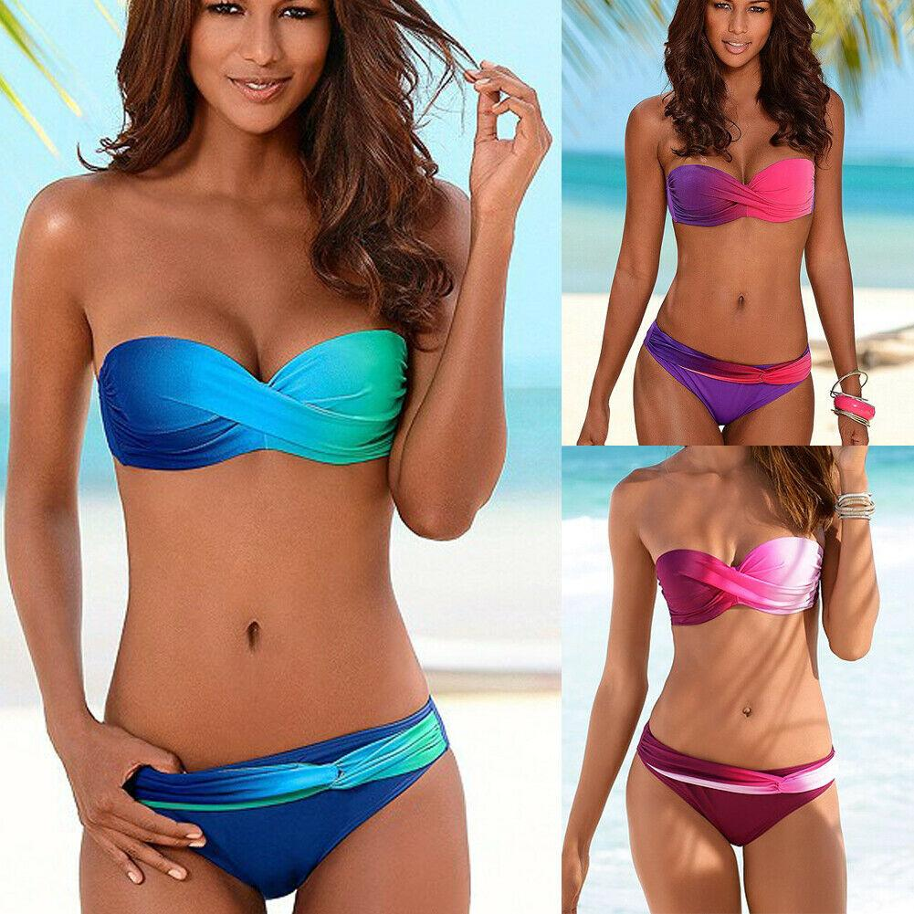 Womens Bikini Set Bandage Push-Up Padded Swimwear Swimsuit Bathing Brazilian ZX