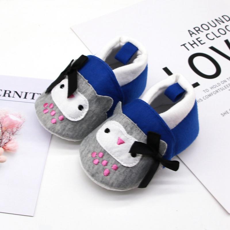 Automne Chaussures bébé Filles Garçons respirant Anti-Slip Casual Cartoon Imprimer Bow Chaussures enfant en bas âge à semelle souple Chaussures de marche B o