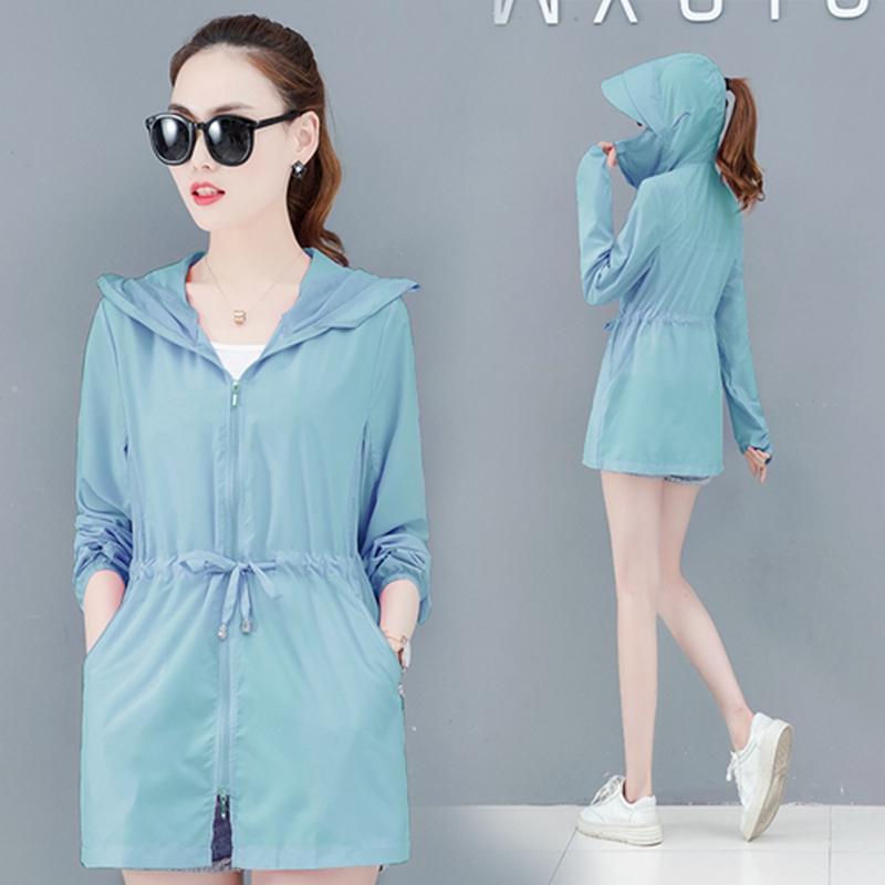 New Genuine UV proteção solar roupas transparentes de manga longa camisa jaqueta mulheres beach wear protetor solar capa ups