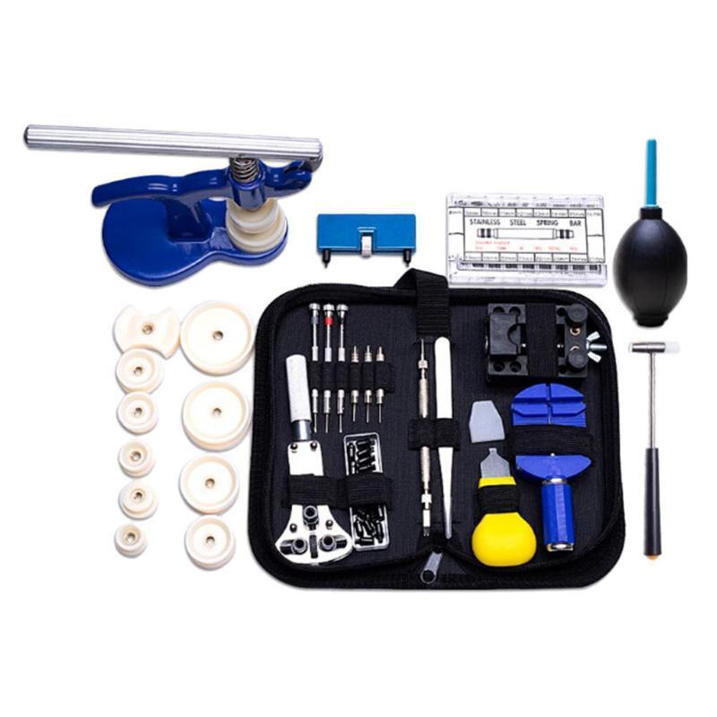 Kits de herramientas de reparación 406pcs / set Professional Watch OpenRer Removedor Barra de primavera Destornillador Reloj Kit de herramientas