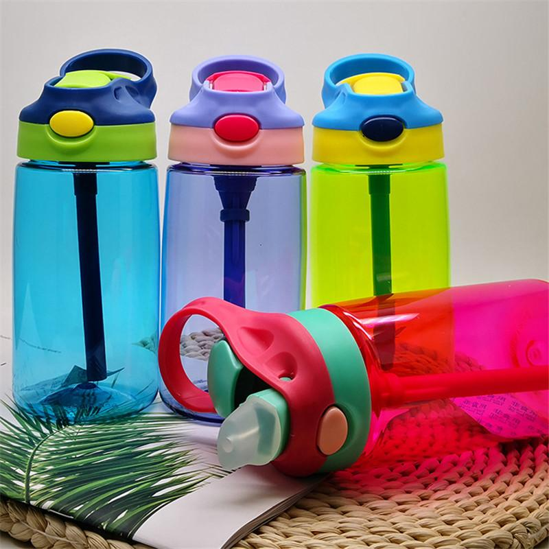 480ML Kids Baby Sport Water Bottle BPA Free Children's Cup Baby Portable Feeding Bottle With Straw Leak Proof Durable Water Cup