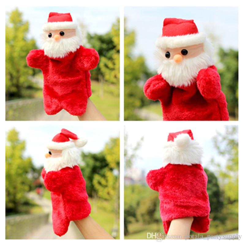 Christmas Gift dolls Children's Day Santa Claus Hand puppets glove soft funny baubles Festival event props warm Lovely cartoon Santa father