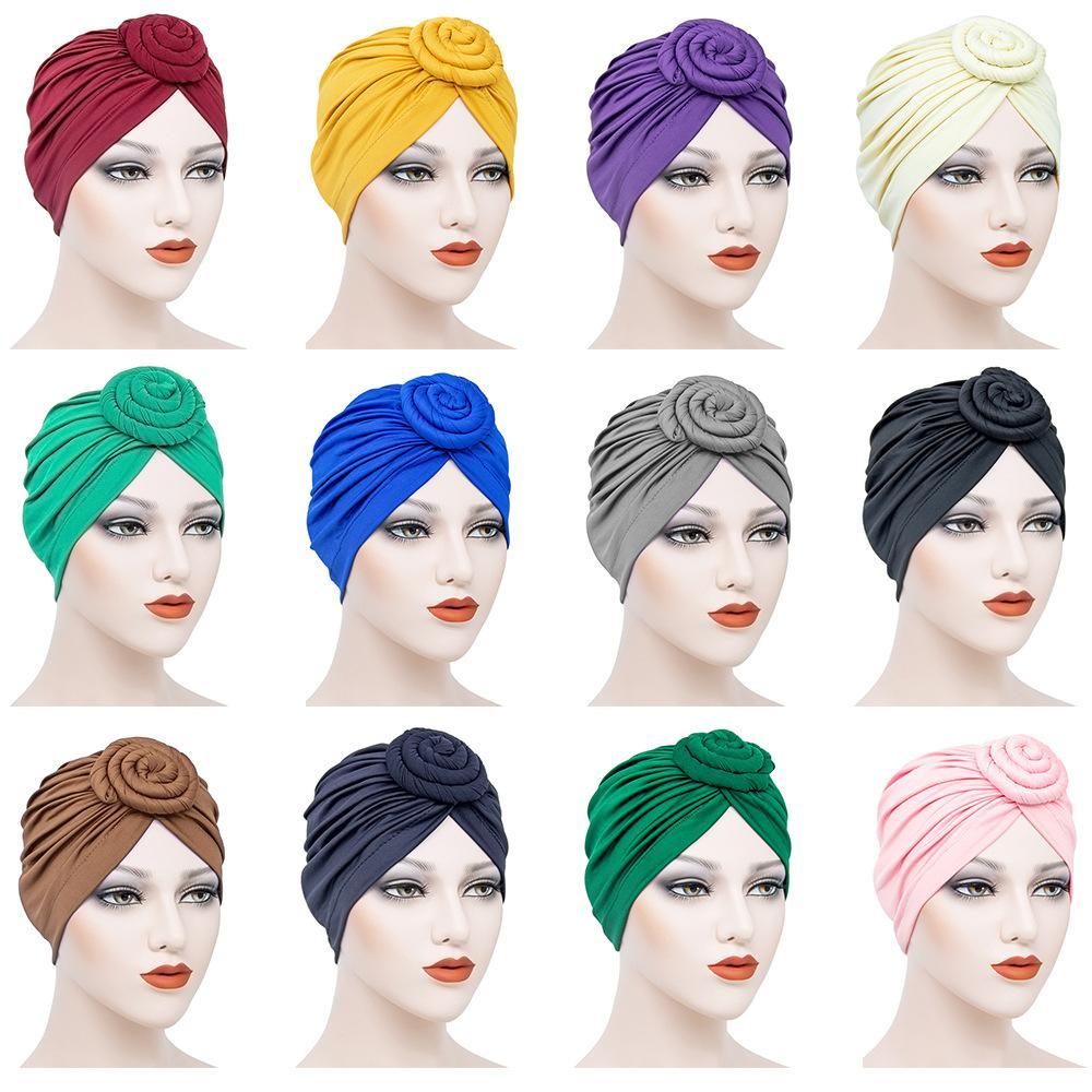 couleur unie Inde enveloppe intérieure hijab bonnet femme musulmane tête écharpe turban hijab underscarf casquettes prêt à porter turbante mujer