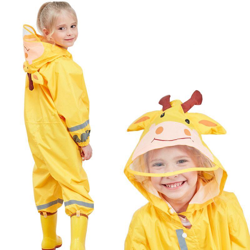 85-110CM waterproof raincoat for children kids baby rain coat poncho boys girls rainwear school students rain suit Rain Jumpsuit