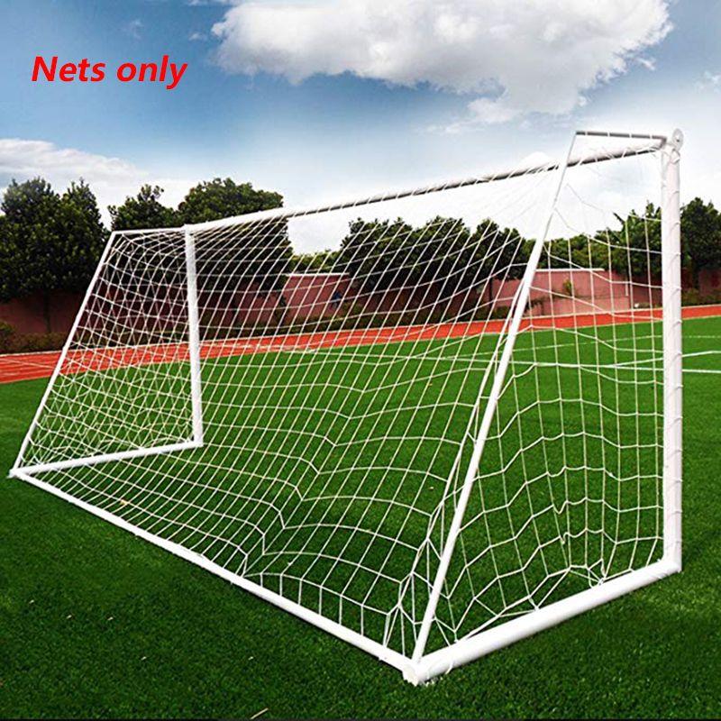 3X2M Soccer Goal Net Redes de fútbol Malla Accesorios de fútbol para deportes de equipo Práctica de entrenamiento de fútbol al aire libre Match Fitness (solo redes)