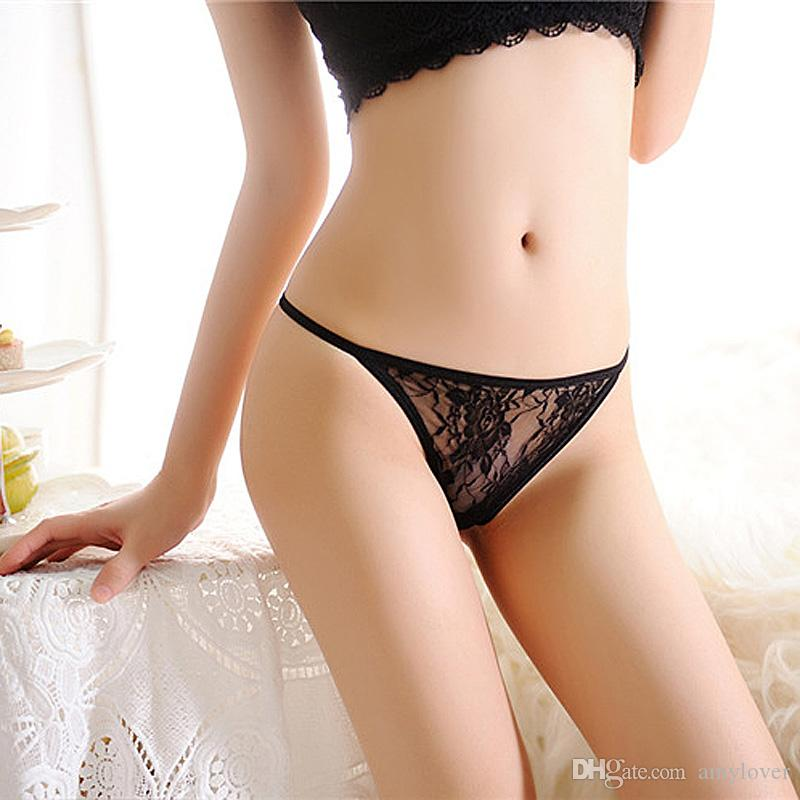 Underwear For Woman Brand Lace t fi Women Crotchless Pearl mesh crotch string trousers net yarn massage pearl ladies temptation T pants