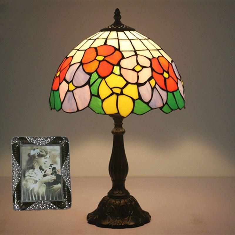European Bedroom Bedside Table Lamp Fashion Creative Living Room Lampe chambre Study Wedding Room Bar American Vintage Bed Light Dia30cm