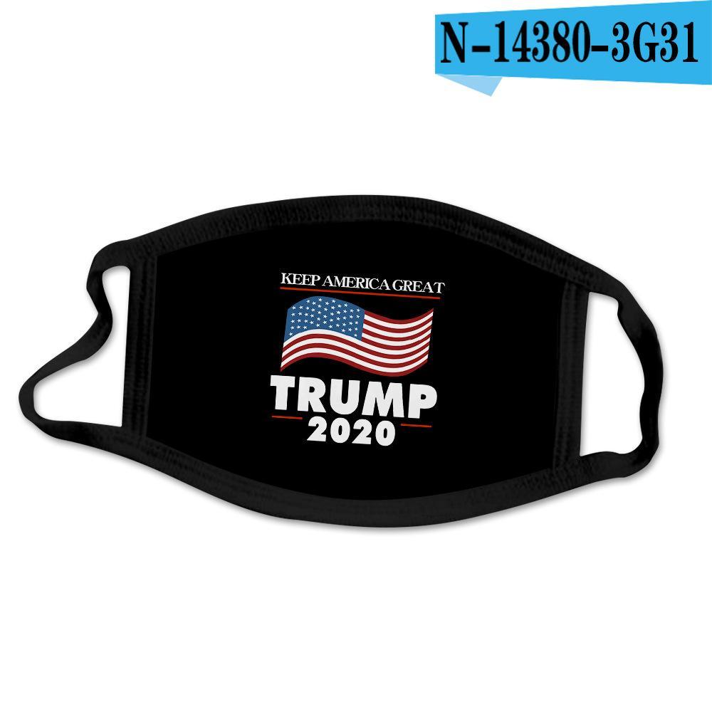 In Donald Trump della design di lusso riutilizzabile lavabile panno di cotone Moda Bocca maschera di protezione USA Donne Uomini Unisex 17 DHL DESIGNA la nave veloce