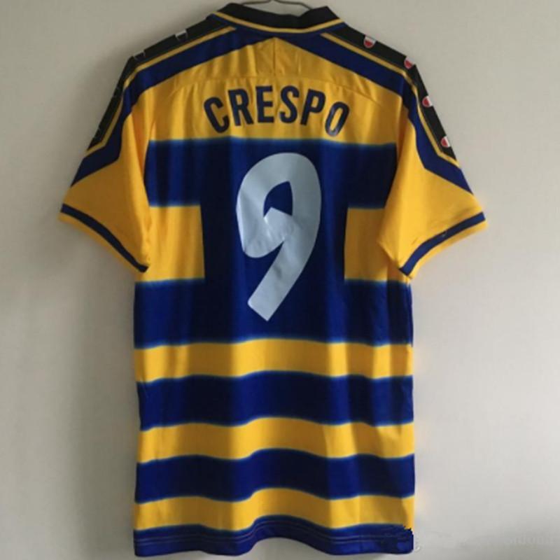 neuer Retro PARMA 1999 2000 Jahrgang CRESPO 9 ORTEGA 10 BUFFON 1 maillot de foot Fußballjersey-Shirt