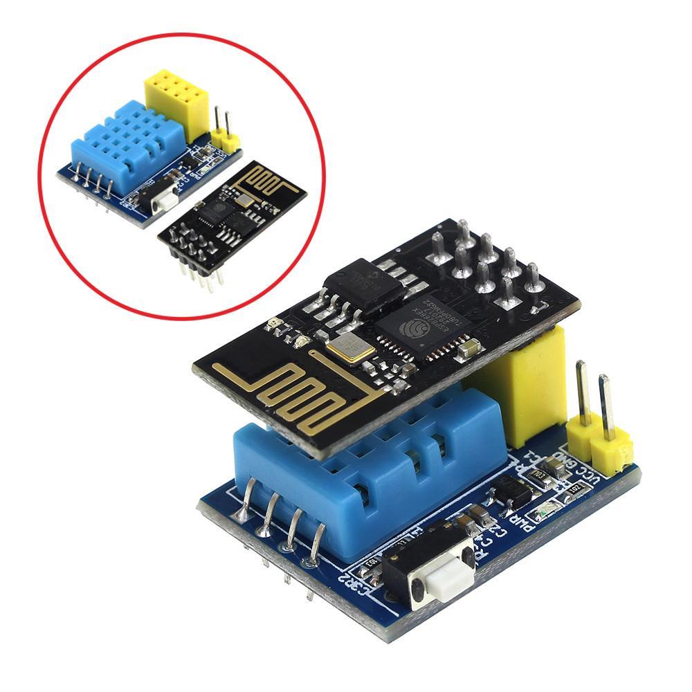 ESP8266 ESP-01 ESP-01S DHT11 درجة الحرارة الرطوبة وحدة الاستشعار ESP8266 NodeMCU wifi المنزل الذكي IOT ديي عدة