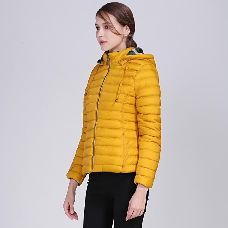 2020 NOUVELLE NEIGE PORTE FEMMES Coton Manteau Hiver Tour à manches longues épaisses manteau Casual Zipper Femmes Tops Hiver Vêtements chauds
