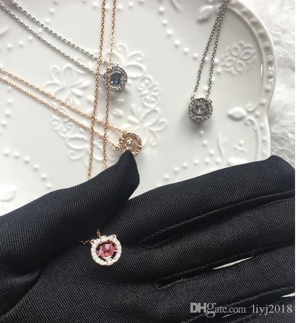 Смарт ожерелье Женщина бьющегося сердца цепи ключицы Женский Эмоциональная Круглый Подвеска