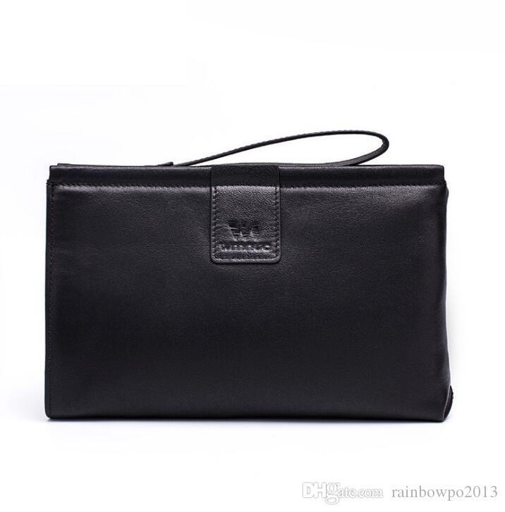 مصنع العلامة التجارية الرجال حقيبة بسيطة حقيبة يد جلدية الأعمال المألوف رئيس طبقة رعاة البقر محفظة جلد ناعم مغلف قدرة كبيرة حقيبة